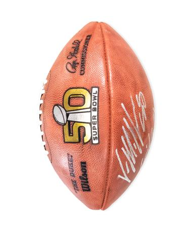 Von Miller Autographed Super Bowl 50 Football