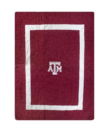 Texas A&M 48x62 Plain Quilt