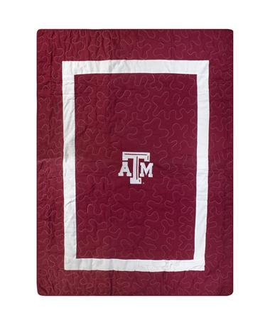 Texas A&M Plain 60x96 Quilt