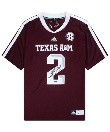 Texas A&M Johnny Manziel Signed '12 Heisman Jersey