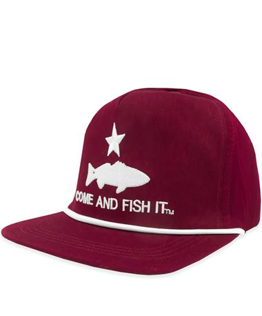 Maroon Redfish Cap