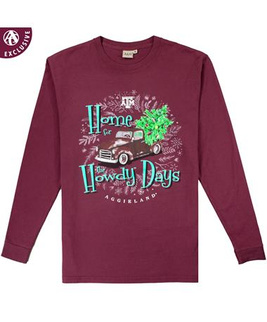 Texas A&M Home for the Howdy Days Long Sleeve T-Shirt