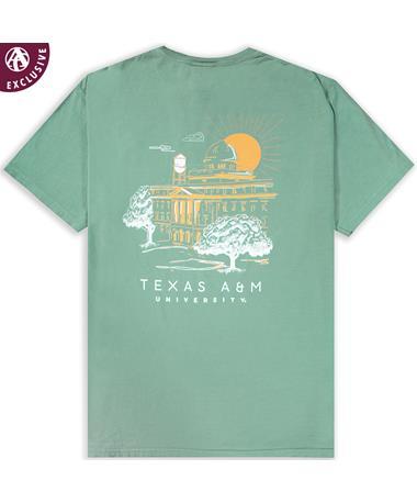 Texas A&M Campus Sunrise T-Shirt