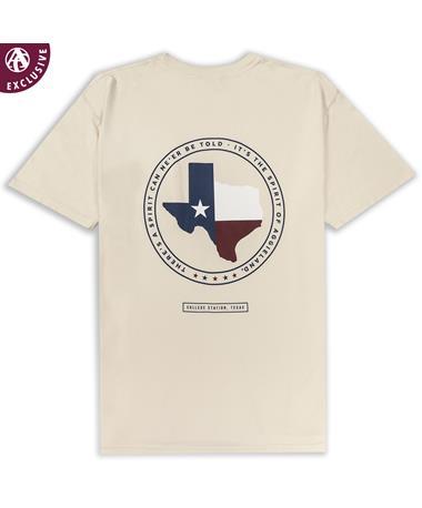 Texas A&M Spirit Texas Flag T-Shirt