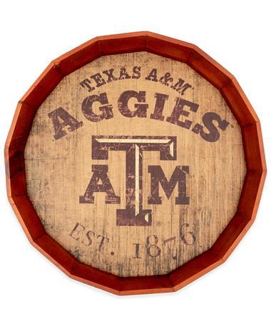 Texas A&M Est. Date Barrel Top Sign