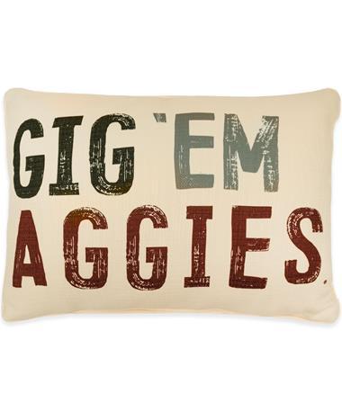 Gig 'Em Aggies PIllow