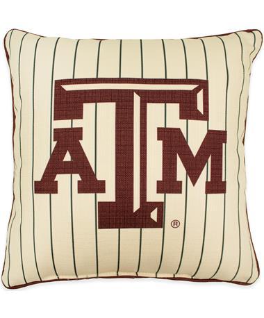 Texas A&M Pinstripe Pillow