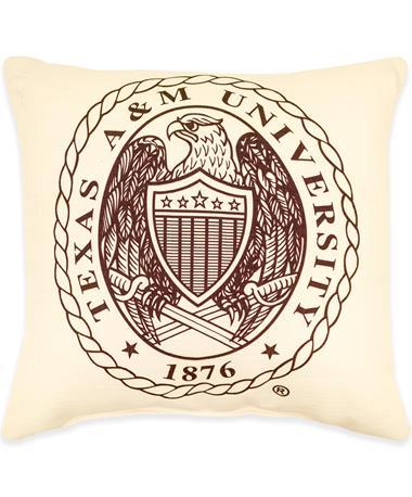 Texas A&M Crest Pillow