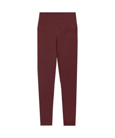 Maroon Plain Athletic Leggings