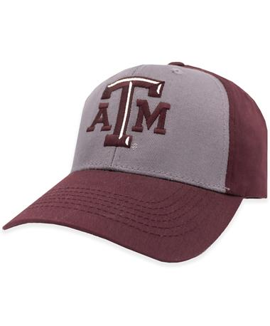 Texas A&M Two Tone Gray & Maroon Hat