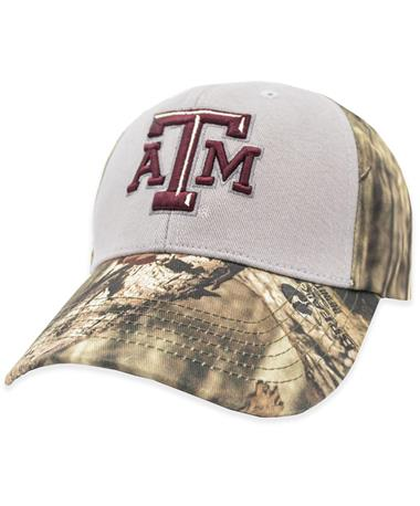 Texas A&M Two Tone Gray & Camo Hat