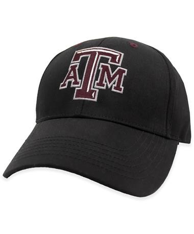 Texas A&M Black Beveled ATM Hat