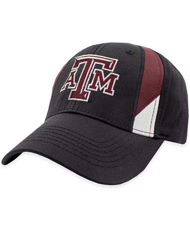Texas A&M Two Line Black Hat