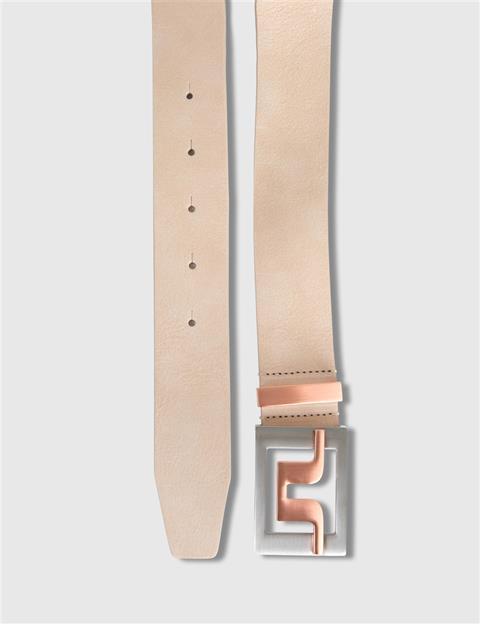 Mens Slater 40 2.0 Brushed Leather Belt White