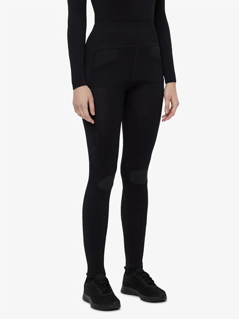 Womens Body Mapping Tights Black