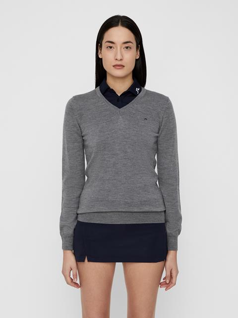 Womens Amaya True Merino Sweater Grey Melange