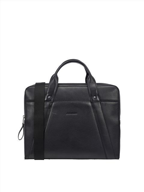 Mens Mix Leather Bag Black