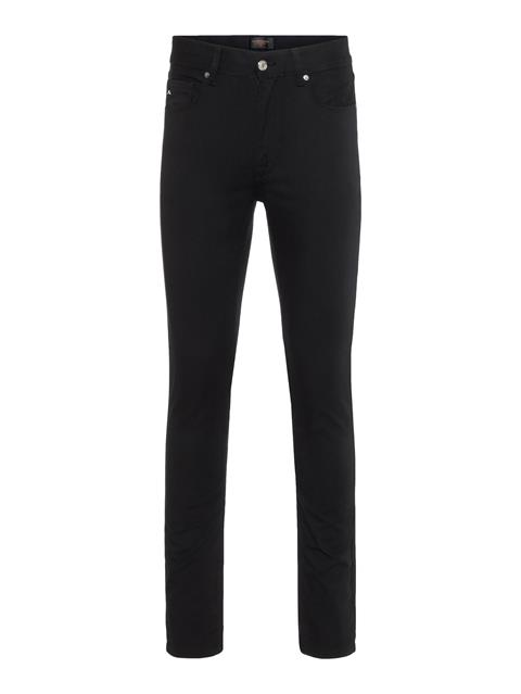 Mens Damien Black Stretch Denim Black