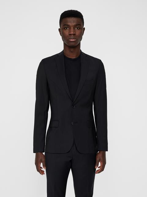 Mens Hopper Soft Comfort Wool Blazer Black