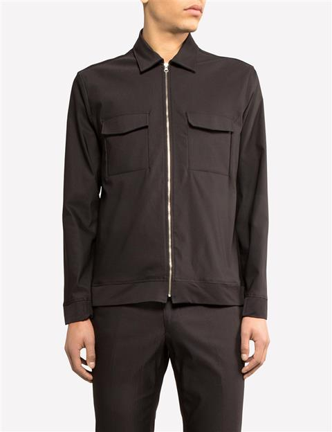 Mens Jason Zip CO/PA Shirt Black