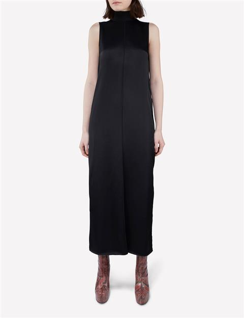 Womens Saga Satin Weave Dress Black