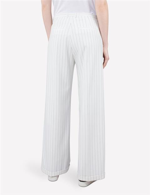 Womens Kori Fab Pinstripe Pants Off White