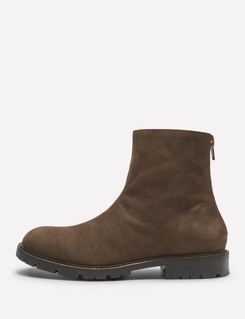 Mens Vote Grain Nubuk Zip Boot Washed Brown