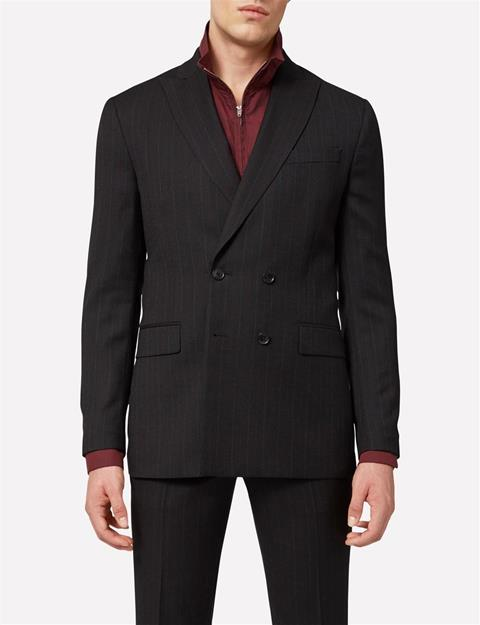 Mens Darko Double Breasted Fancy Wool Blazer Antrasit
