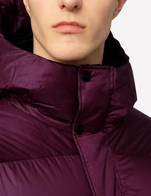 Mens Expo Shiny Jacket Dusty Burgundy