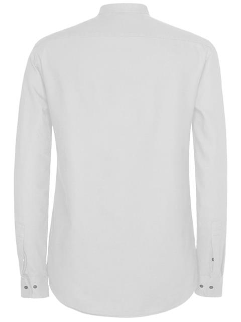 Mens David Refined Piquet Shirt White