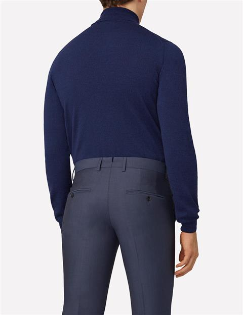 Mens Lyd True Merino Turtleneck Navy