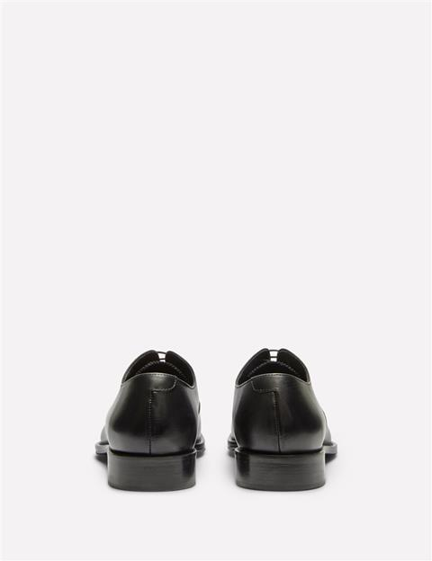 Mens Hopper Italian Calf Leather Cap Toe Shoes Black