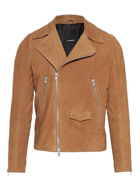 Mens Bale Smooth Suede Leather Jacket Glazed Ginger