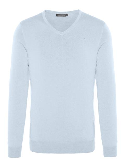 Mens Newman Perfect Merino V-neck Sweater Gentle blue
