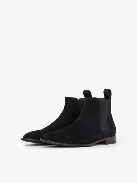 Mens Italian Suede Chelsea Boot Black