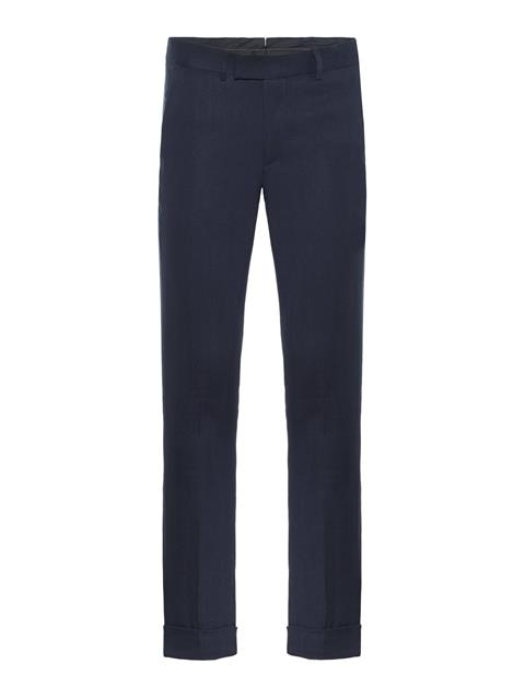 Mens Grant Tech Linen Pants JL Navy