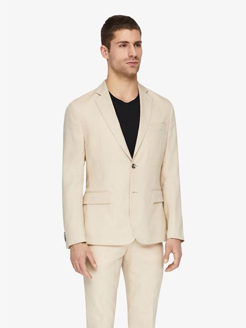 Mens Hopper Soft Tech Linen Blazer Oxford Tan