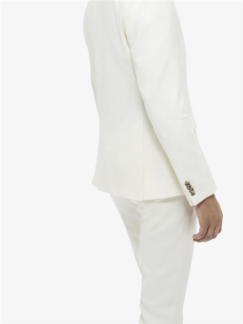 Mens Hopper Soft Tech Linen Blazer Whisper White