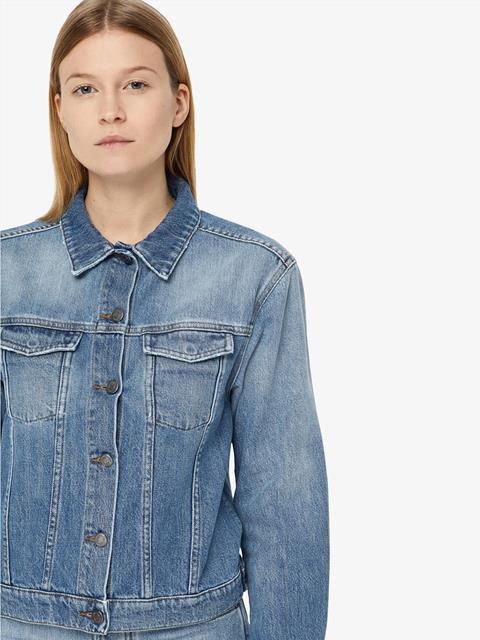 Womens Bella Sharp Denim Jacket Light Blue