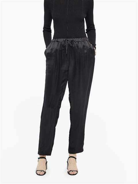 Womens Spring Viscose Silk Pants Black