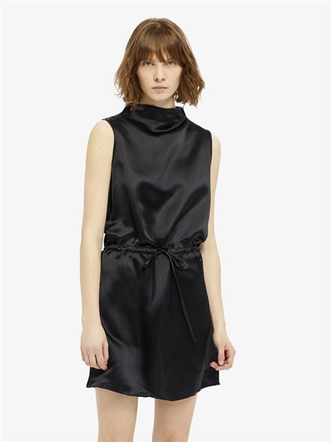 Womens Merced Viscose Silk Dress Black