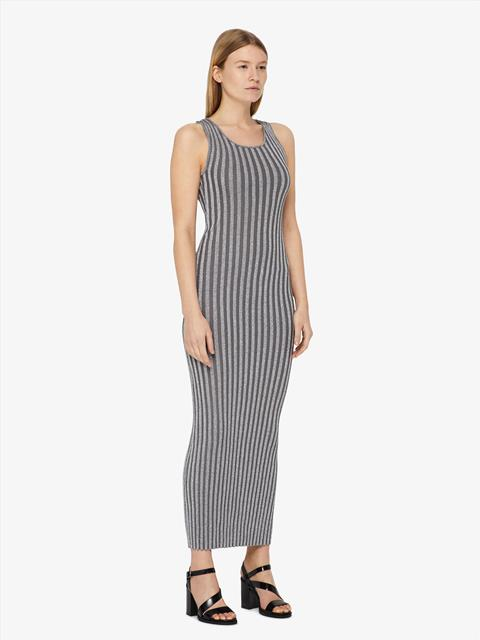 Womens Hayton Lurex Ribbed Dress Silver