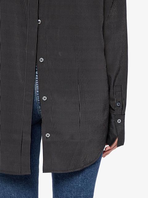 Womens Nicole Stretch Silk Shirt Black