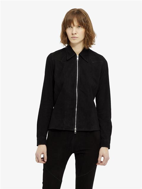 Womens Irene Light Suede Shirt Black