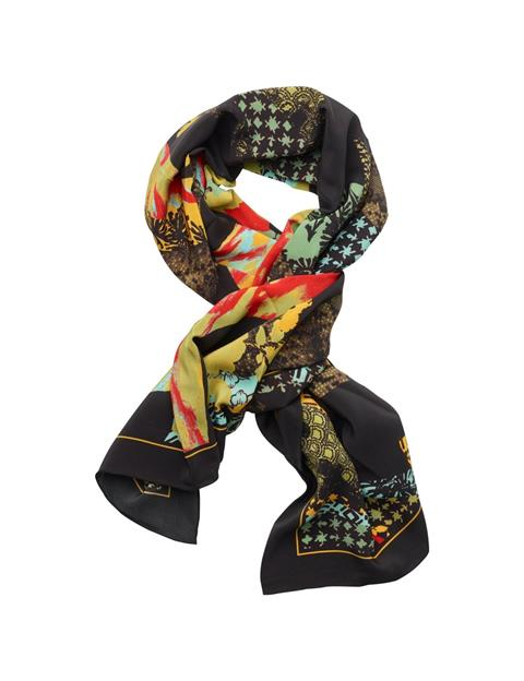 Womens Printed Square Scarf Dusty Green
