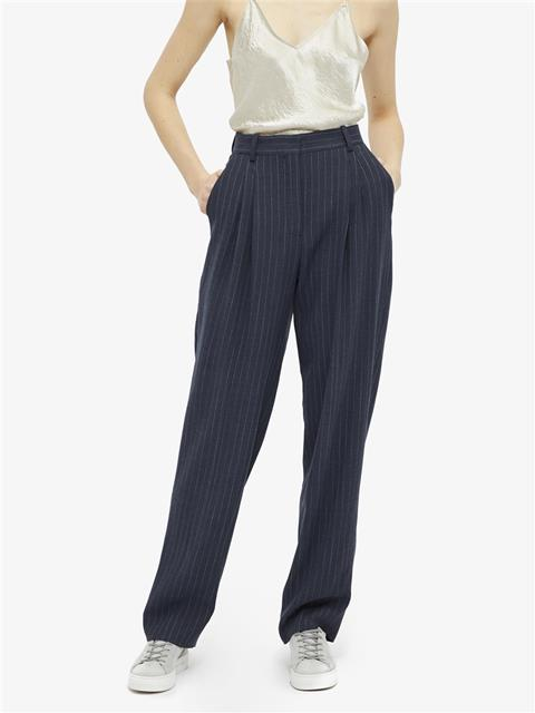Womens Avalon Spring Pinstripe Pants JL Navy