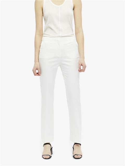 Womens Beverly Tailored Wool Tuxedo Pants White