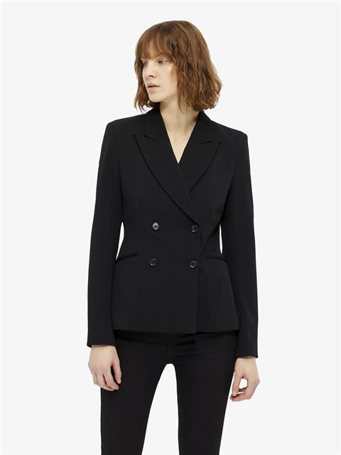 Womens Cypress Twill Jersey Blazer Black