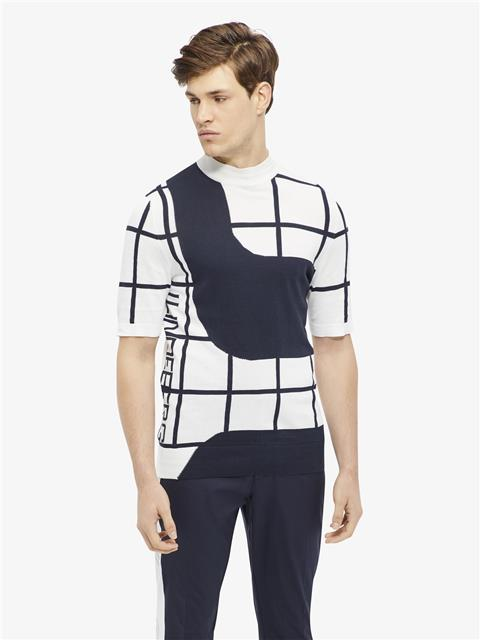 Mens Rocks Short-Sleeve Pima Cotton Sweater White