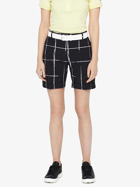 Womens Klara Micro Stretch Shorts Window Pane